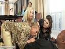 Screenshot for Зрелые грудастые тетки наслаждаются черным членом